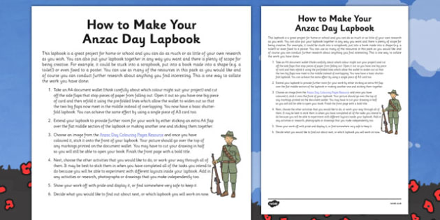 How to Make Your Anzac Day Lapbook - nz, new zealand, lapbook, anzac day, how to