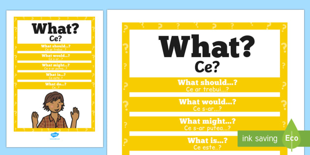 What? Question Poster English/Romanian