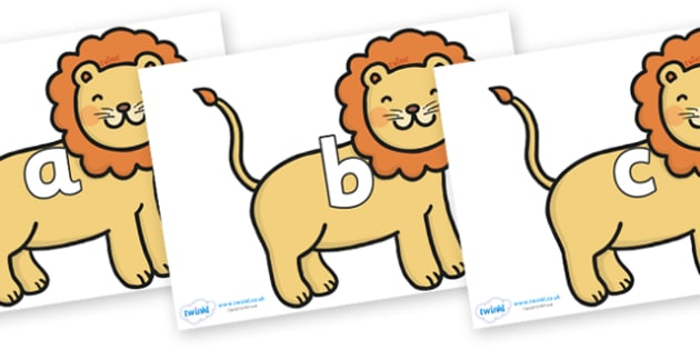 Phase 2 Phonemes on Lions - Phonemes, phoneme, Phase 2, Phase two, Foundation, Literacy, Letters and Sounds, DfES, display