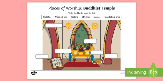 ks1 buddhist places of worship temple worksheet. Black Bedroom Furniture Sets. Home Design Ideas