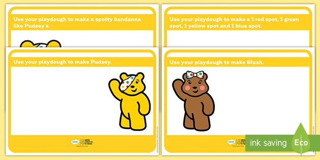 BBC Children in Need Pudsey Playdough Mats