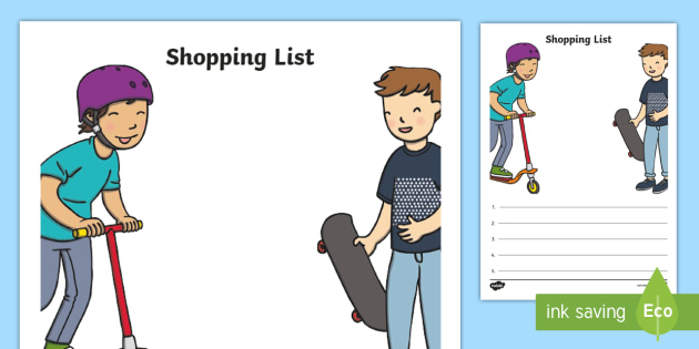 Toy Shop Shopping List - Toy shop Role Play, toy shop, toy shop resources, toys, till, money, customer, dolls, lego, ben 10, role play, display, poster, Role Play Shopping Lists - Shopping list, Shopping, Role Play, Money, Shop, Till, Purchase, topic