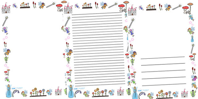 Fairies Full Page Borders - page border, border, frame, writing frame, fairy page borders, fairies, portrait fairy borders, fairy borders, fairy pages, writing template, writing aid, writing, A4 page, page edge, writing activities, lined page, lined