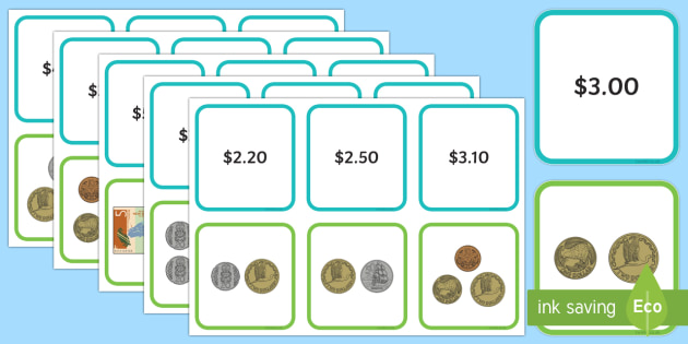 New Zealand up to $5 Matching Cards - New Zealand Money,coins, notes, matching cards