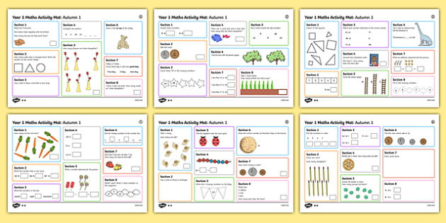 Year 1 Autumn 1 Maths Activity Mats
