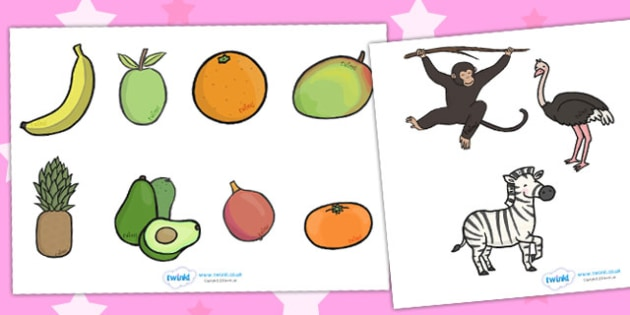 Story Cut Outs to Support Teaching on Handa's Surprise - activity, craft, activities