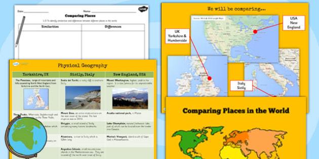 Geography comparing places lesson teaching pack compare ks2 geography comparing places lesson teaching pack compare gumiabroncs Images