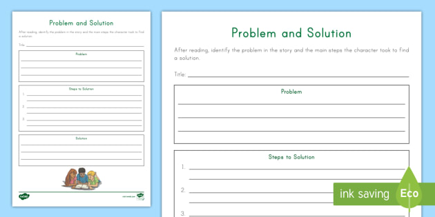 Problem And Solution Writing Worksheet Worksheet Reading