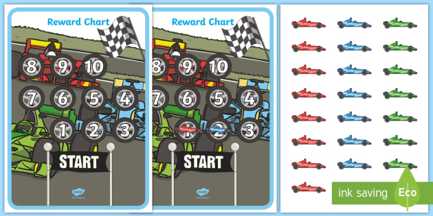 Editable Car Themed Reward Chart Worksheet