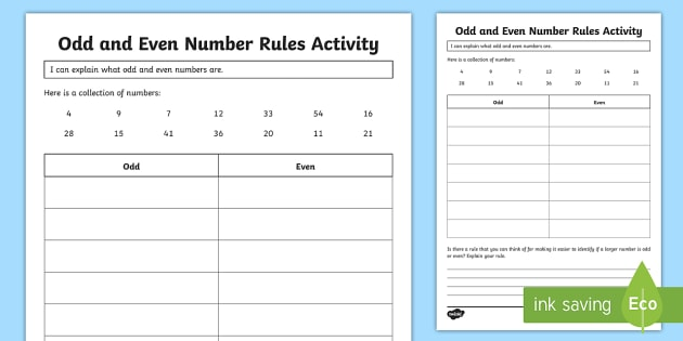 Odd and even numbers rule worksheet activity sheet year 3 odd and even numbers rule worksheet activity sheet year 3 odd and even numbers ibookread Download
