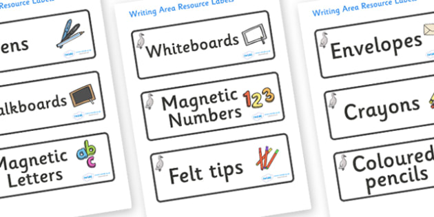 Cygnet Themed Editable Writing Area Resource Labels - Themed writing resource labels, literacy area labels, writing area resources, Label template, Resource Label, Name Labels, Editable Labels, Drawer Labels, KS1 Labels, Foundation Labels, Foundation