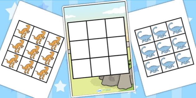 3-in-a-Row Activity (Dinosaur) - 3 in a row activity dinosaur, dinosaur, 3 in a row, row, game, activity, fun, wet play, numbers, counting