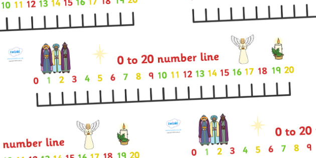 Christmas Number Line Banner 0-20 - 0-20, christmas, numberline