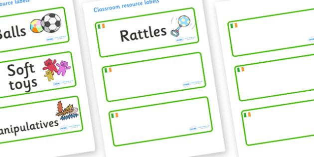 Ireland Themed Editable Additional Resource Labels - Themed Label template, Resource Label, Name Labels, Editable Labels, Drawer Labels, KS1 Labels, Foundation Labels, Foundation Stage Labels, Teaching Labels, Resource Labels, Tray Labels, Printable