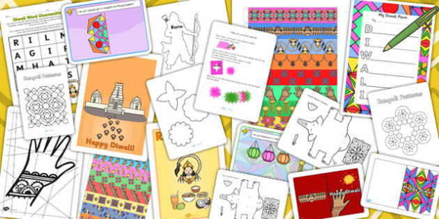 Diwali Themed KS1 Craft and Activity Pack - activities, Diwali