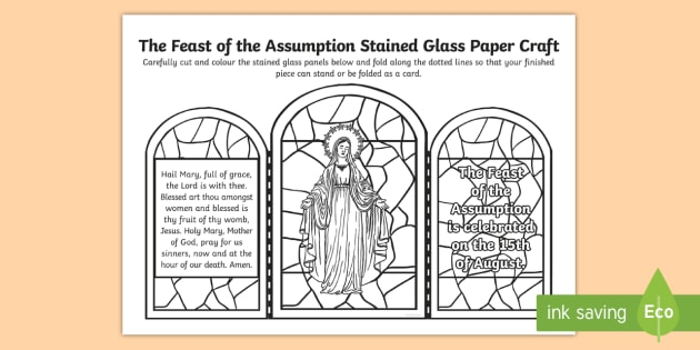 Feast Of The Assumption Stained Glass Paper Craft