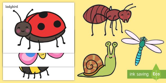 Cute Minibeast A4 Cut Outs - minibeats, cute minibeast, A4 cut out, cut outs, cut-outs, cutouts, display cutouts, images, pictures, display pictures