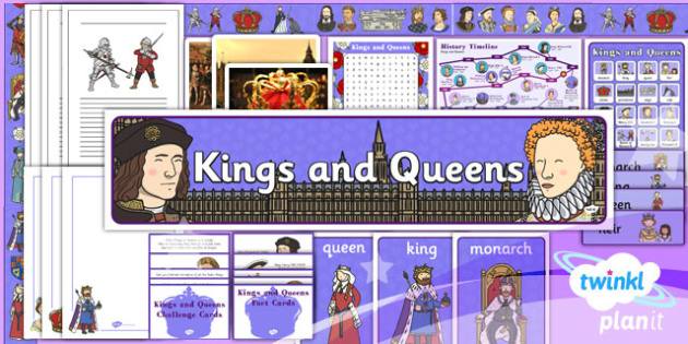 History: Kings and Queens KS1 Unit Additional Resources