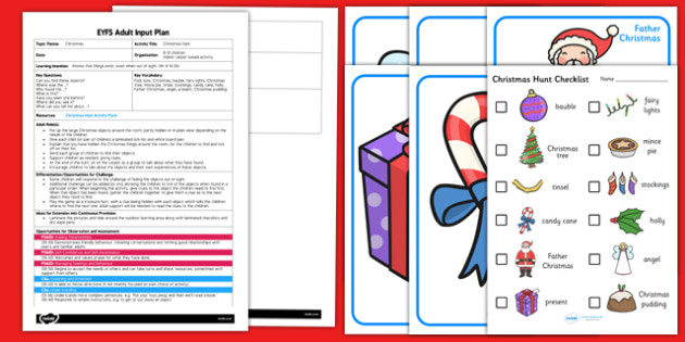 Christmas Hunt EYFS Adult Input Plan and Resource Pack