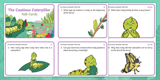 The Cautious Caterpillar Differentiated Talk Cards
