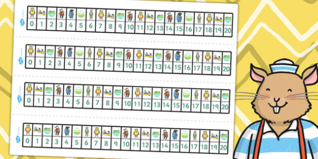 The Wind in the Willows Number Track 0 20 - numeracy, numbers