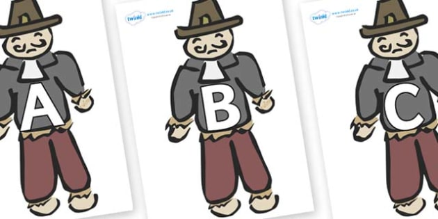 A-Z Alphabet on Guy Fawkes - A-Z, A4, display, Alphabet frieze, Display letters, Letter posters, A-Z letters, Alphabet flashcards