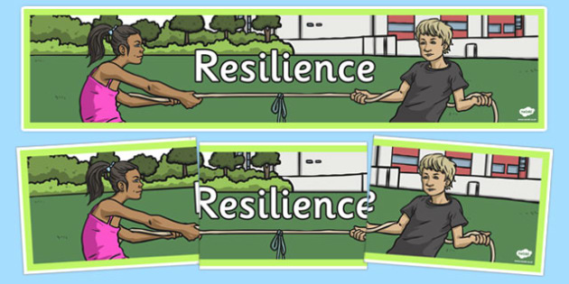 Resilience Display Banner - personal, social, PSHE, SEAL, mindset, qualities