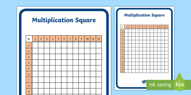 Times Table Square Up To 12 Maths Times Tables Numeracy