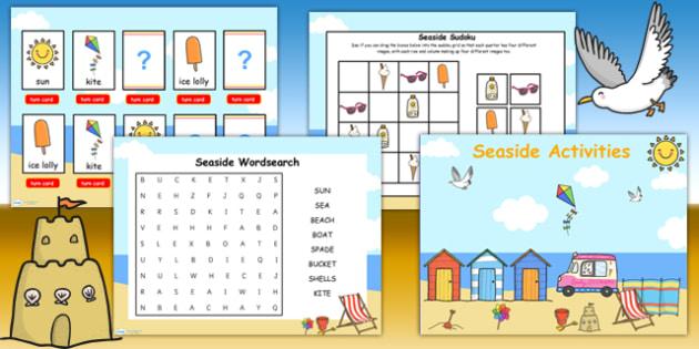 Seaside Themed Flipchart Activity Pack - seaside activities, sea