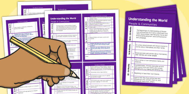 Pocket Sized EYFS Early Years Outcomes Tracking Document Understanding the World - Early, Years, Outcomes