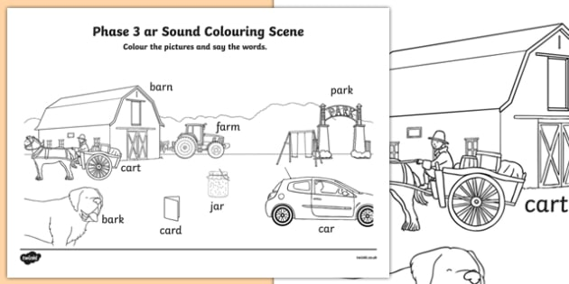 Phase 3 ar Sound Colouring Scene