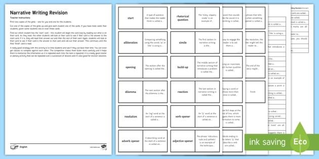 New narrative writing revision card loop activity new narrative writing revision card loop activity narrative writing creative writing publicscrutiny Gallery