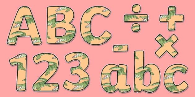 Crocodile Themed Display Lettering - Selfish crocodile, crocodile, alligator, ks2, story book, animals, reptiles, ks2, ks1, eyfs,