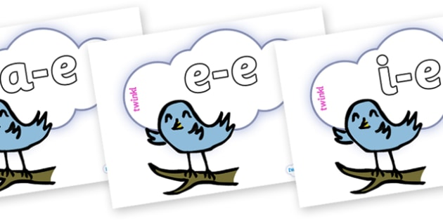 Modifying E Letters on Birds - Modifying E, letters, modify, Phase 5, Phase five, alternative spellings for phonemes, DfES letters and Sounds