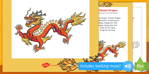 Chinese Dragon Song - chinese new year, chinese dragon, chinese, dragon, song