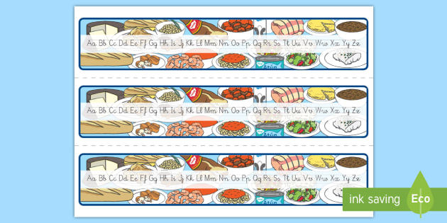 Recta alfabética: La comida  - comer sano, comida sana, comer saludable, comida saludable, fruta, verdura, dieta saludable, dieta s
