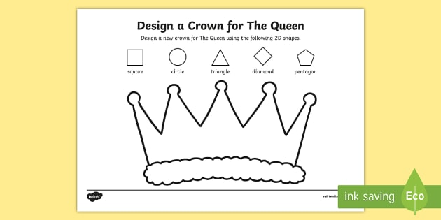 design a crown for the queen worksheet worksheet worksheet the queen 39 s. Black Bedroom Furniture Sets. Home Design Ideas