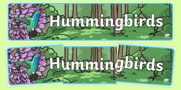 Hummingbirds Display Banner - hummingbirds, display banner, display, banner