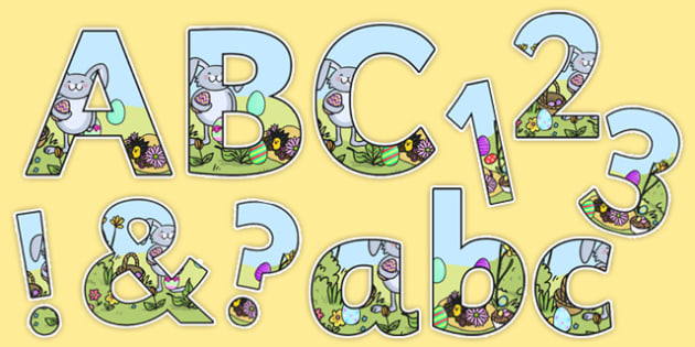 Easter Themed Display Lettering - easter, religion, RE, letters