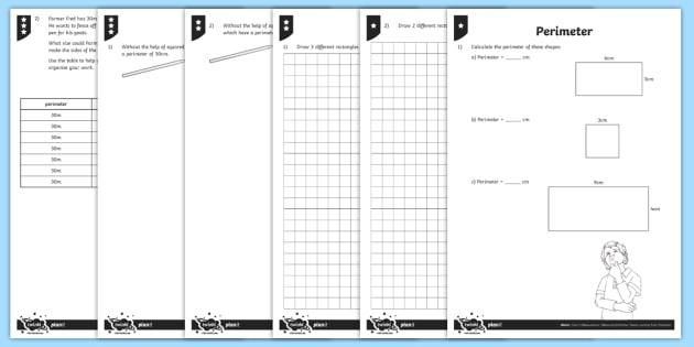 PlanIt Maths Y3 Measurement Perimeter Home Learning Tasks