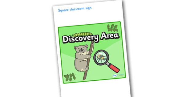 Discovery Area Display Sign - Discovery Area, Investigation Area, Display Words, Knowledge and Understanding of the World, Investigating, investigate, find, look, see