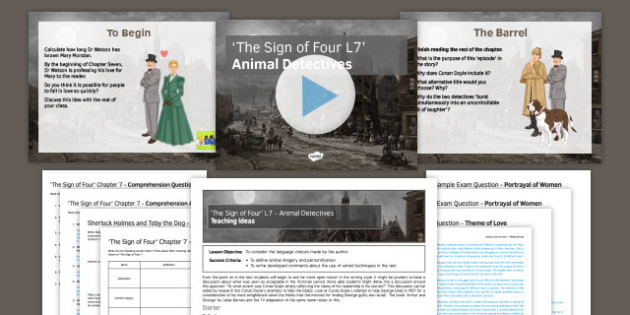 The Sign of Four Lesson Pack 7: Animal Detectives - Sign of Four, Arthur Conan Doyle, Sherlock Holmes, AQA, GCSE, English Literature, Heritage Prose, Reading, Chapter Five
