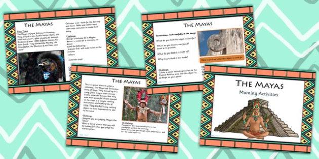 1 Week Maya Civilization Themed Morning Activities LKS2 - mayans