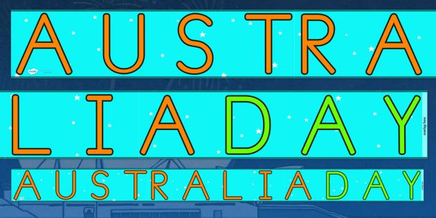 Australia Day Display Borders - australia, australia day, display