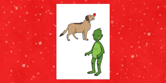 The Christmas Imp Stick Puppet - The Christmas Imp, the grinch, the grinch who stole christmas, christmas, green, imp, stick puppets,