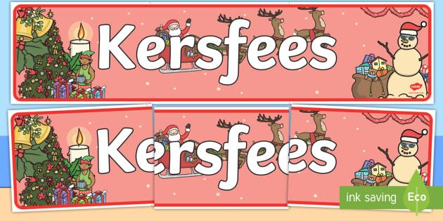 Kersfees vertooning baniere - Kersfees Vertooning baniere, baniere, kersfees, klaskamer