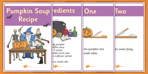 Halloween Pumpkin Soup Recipe Sheets Vegetarian - Halloween Pumpkin Soup Recipe Sheets Vegetarian, Halloween, how to make pumpkin soup, pumpkin soup, soup recipe, recipe, recipe card, making soup, display poster, recipe informationHalloween, pumpkin,