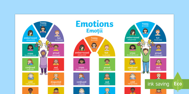 Emotions Board Game England/Romanian