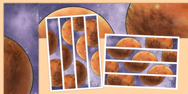 Mars Display Borders - Mars, space, planets, display, universe, science