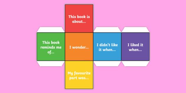 Reading Comprehension Statement Dice Net - reading, comprehension